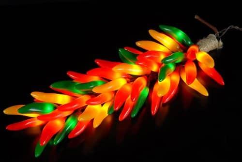 Chili Pepper Christmas Lights
