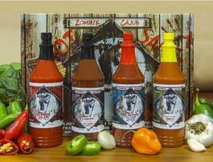 zombie cajun hot sauce set