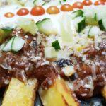 Spicy black bean mushroom chili