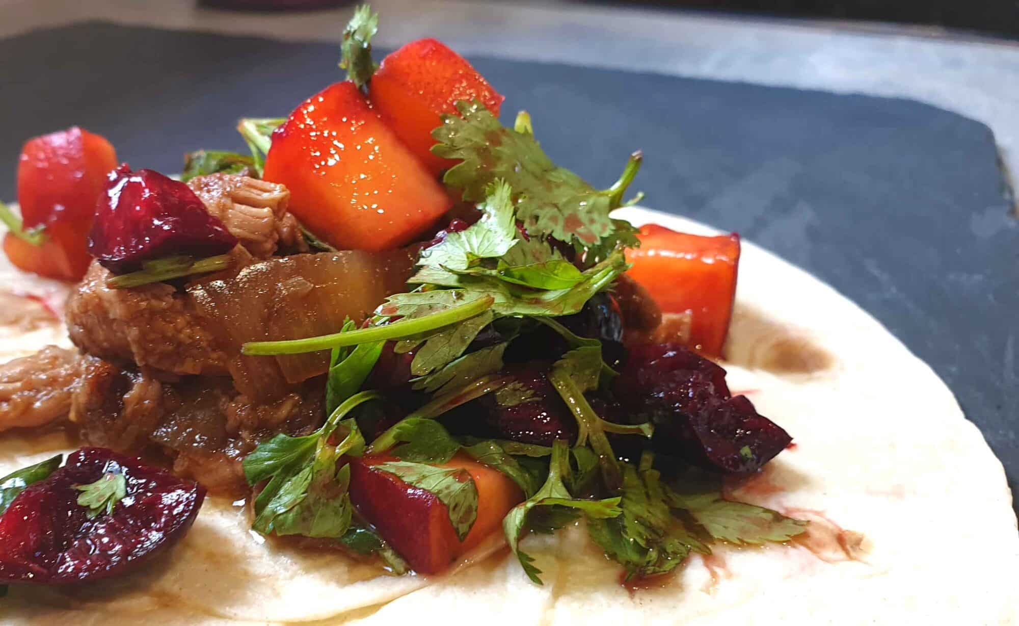 Spicy Pulled Pork Tacos With Sweet Salsa