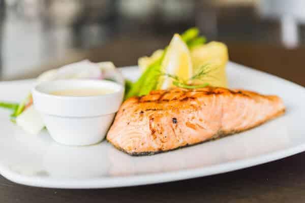 Salmon With Miso Sauce, Potatoes, And Broccoli