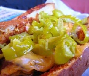 Pepperoncini on Sandwich