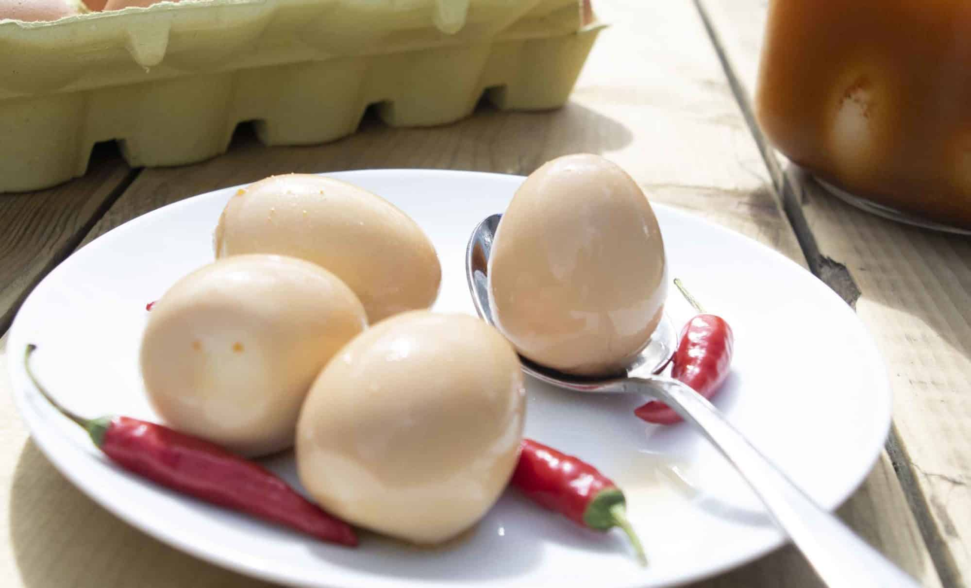 Cajun Pickled Eggs