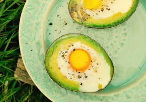 Spicy Baked Eggs In Avocado