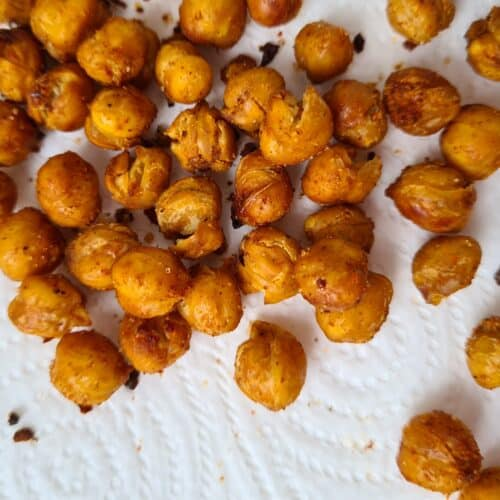 Extra Spicy Roasted Chickpeas