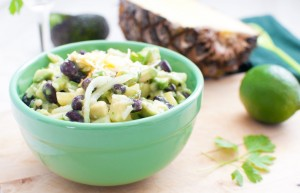 Spicy Pineapple, Avocado, And Black Bean Salad