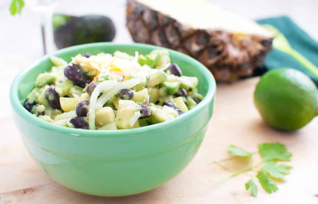 Spicy Pineapple, Avocado, And Black Bean Salad - PepperScale