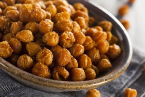 Super Spicy Roasted Chickpeas