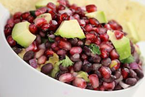 Spicy Pomegranate Avocado Salsa