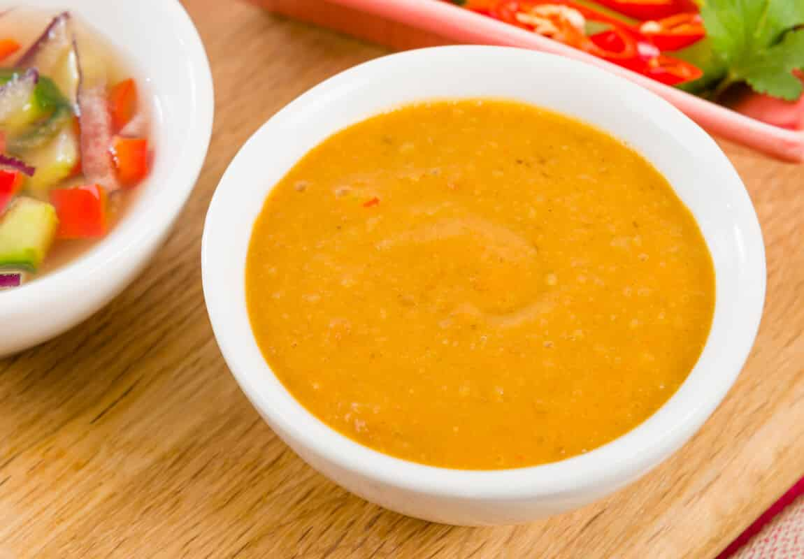 ... here: Home / Spicy Recipes / Marinades and Sauces / Spicy Peanut Sauce
