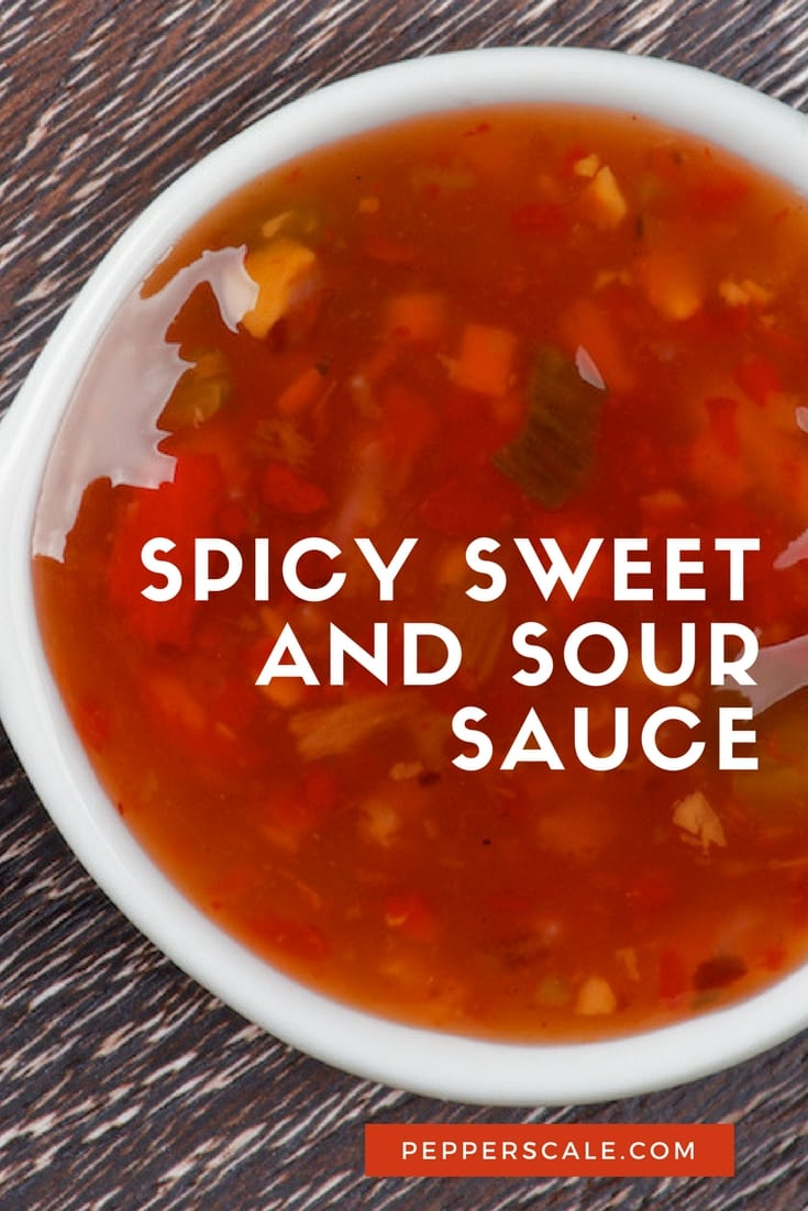 Talk about a sauce that hits all of your taste buds. Spicy sweet and sour sauce packs in so much flavor in such little space.