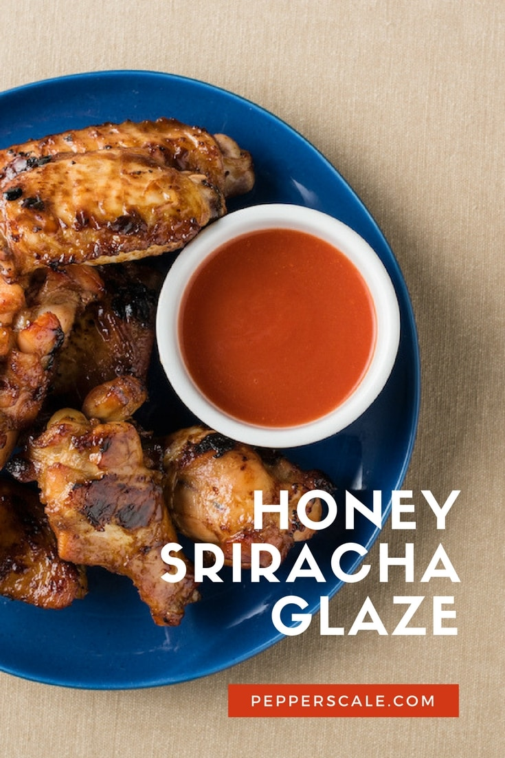 Honey Sriracha glaze is really simple, yet the flavor makes it seem like so much more. Sweet, slightly spicy, and a little garlicky - it's so fun to eat. It's perfect for grilling, or try it as a dipping sauce for chicken wings and fried chicken tenders.