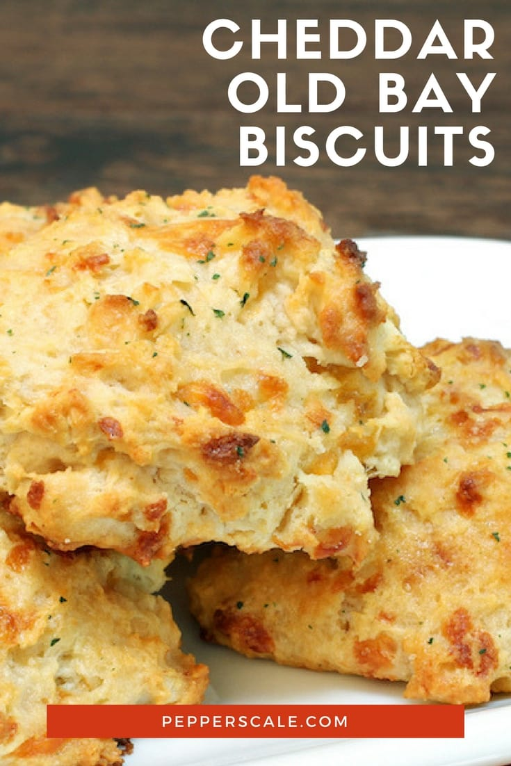 These cheddar Old Bay biscuits match feel good food with Chesapeake Bay spice, raising the bar for every other Bisquick biscuit recipe on the planet.