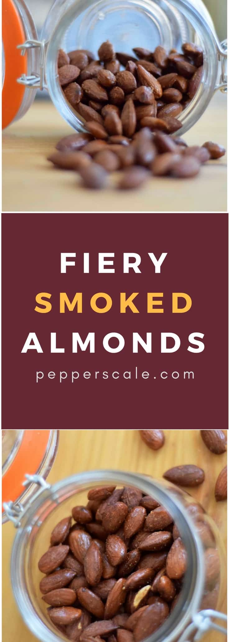 Fiery smoked almonds are pure yum, and it's a simple #recipe to make. It's spicy snacking done right - smoked paprika and cayenne pepper star.