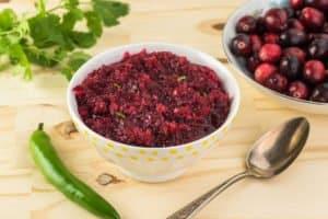 Cranberry jalapeno salsa