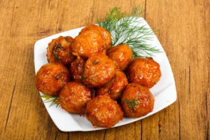 Honey Sriracha Meatballs