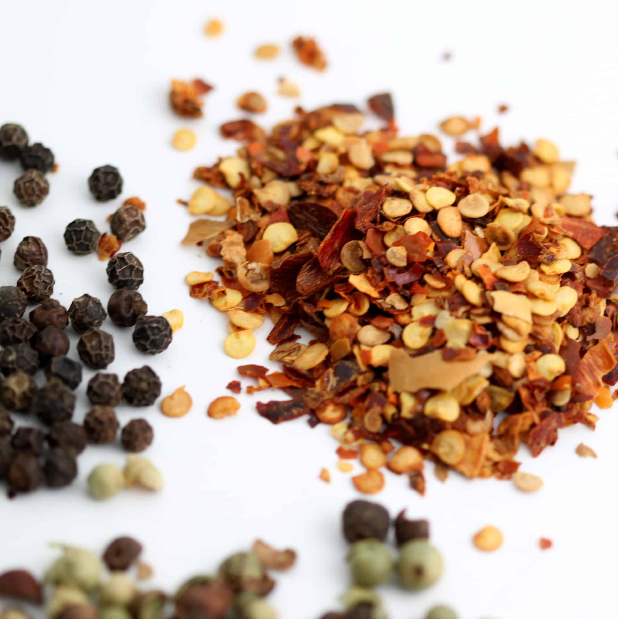 Black pepper vs. red pepper