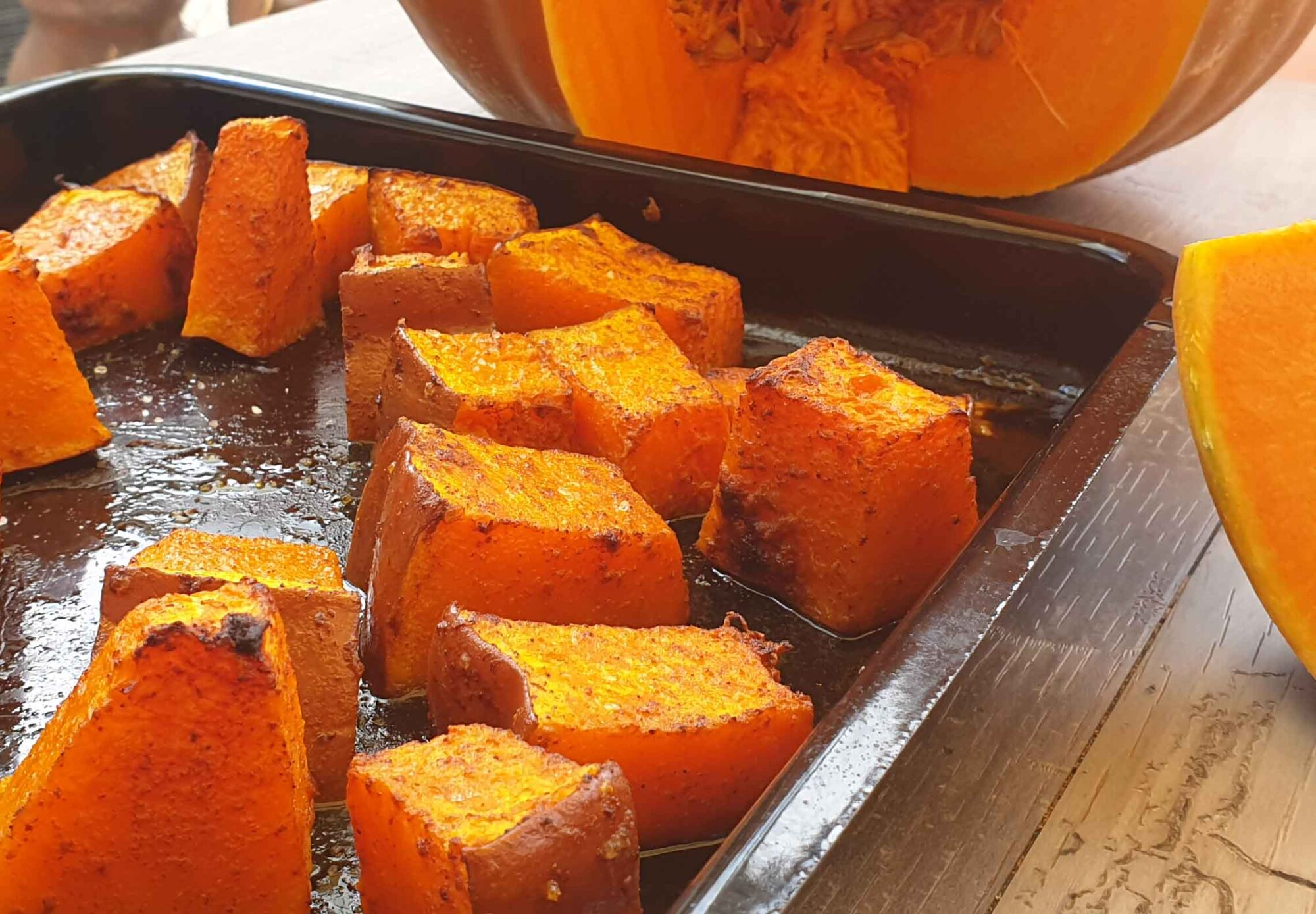 Spicy Chipotle Baked Pumpkin