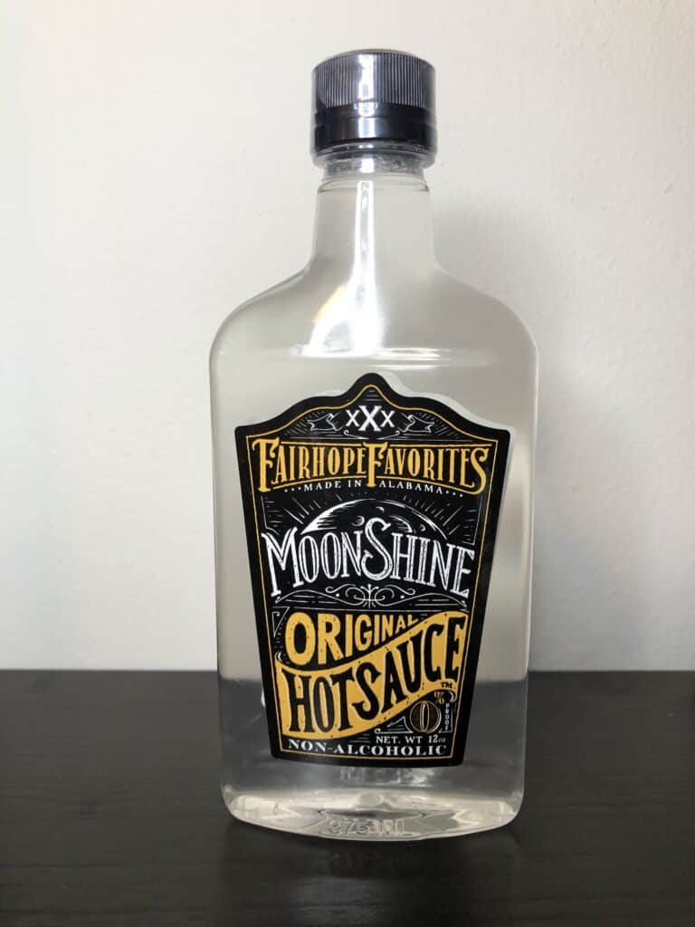 Fairhope Favorite's Original Moonshine Hot Sauce Label