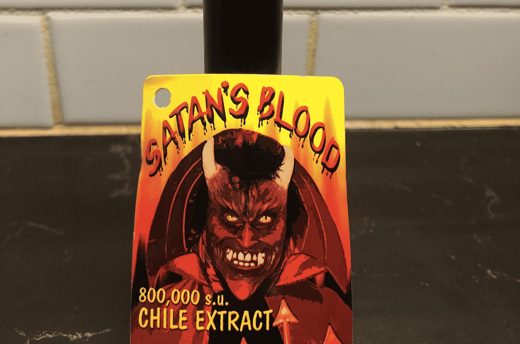Satan's Blood Hot Sauce Label
