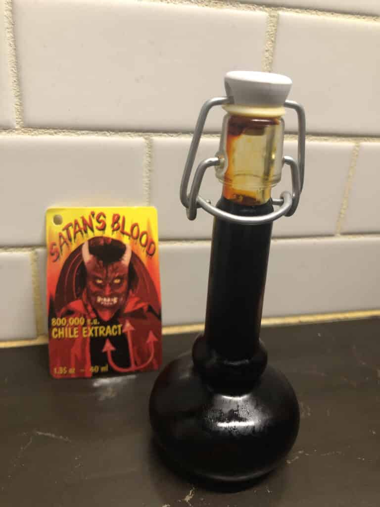Satan's Blood Hot Sauce bottle
