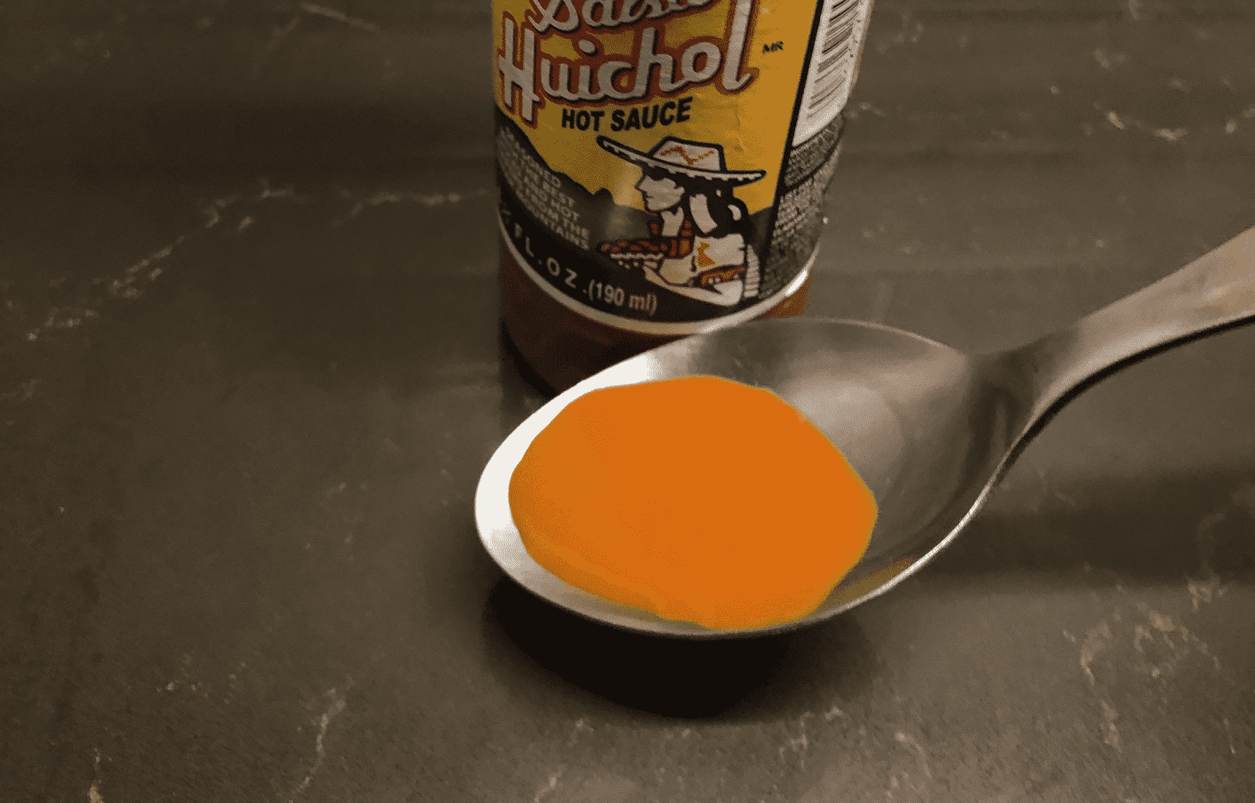 Huichol hot sauce_in spoon