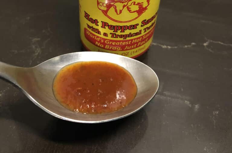 Dirty Dick's Hot Sauce on Spoon