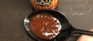 Blair's Mega Death Sauce on spoon