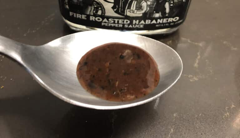 Dr. Assburn's Fire Roasted Habanero Pepper Sauce on a spoon_cover