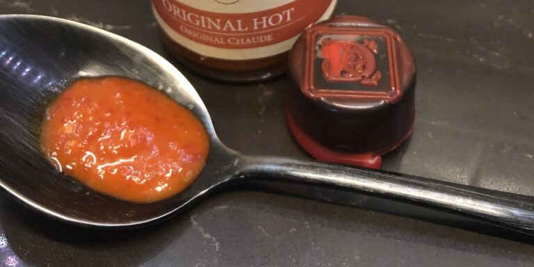 Dawson's Original Hot Sauce On Spoon