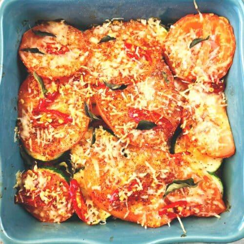 Chili and Zucchini Bake