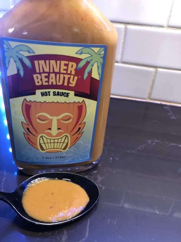 Inner Beauty Hot Sauce on spoon