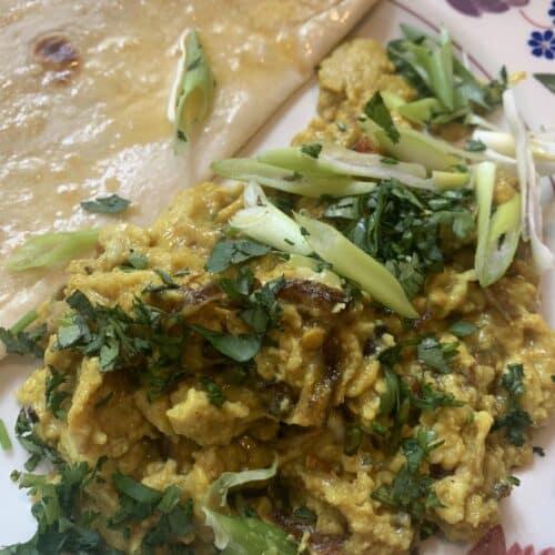 Anda Bhurji - Spicy brunch eggs