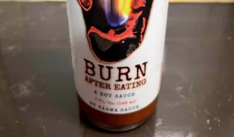Burn After Eating Hot Sauce Label