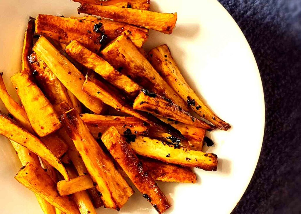 Chipotle Honey Parsnips