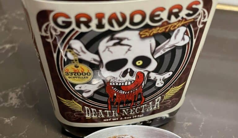 Grinders Death Nectar Label