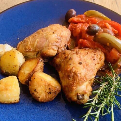 Fiery Chicken with Mediterranean Sauce