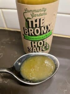 The-Bronx-Greenmarket-Hot-Sauce-on-a-spoon