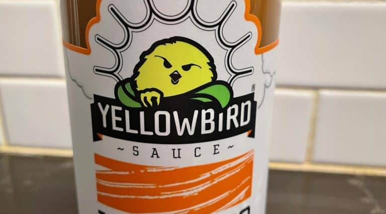 Yellowbird Habanero Hot Sauce label