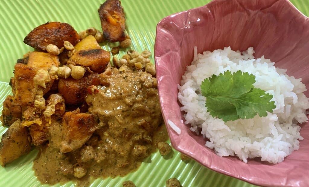Cayenne-Roasted Butternut Squash with Hot Makhani Sauce