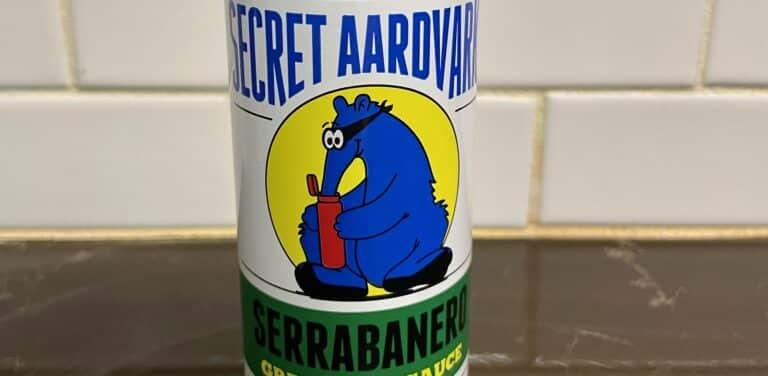 Secret Aardvark Serrabanero Green Hot Sauce Label