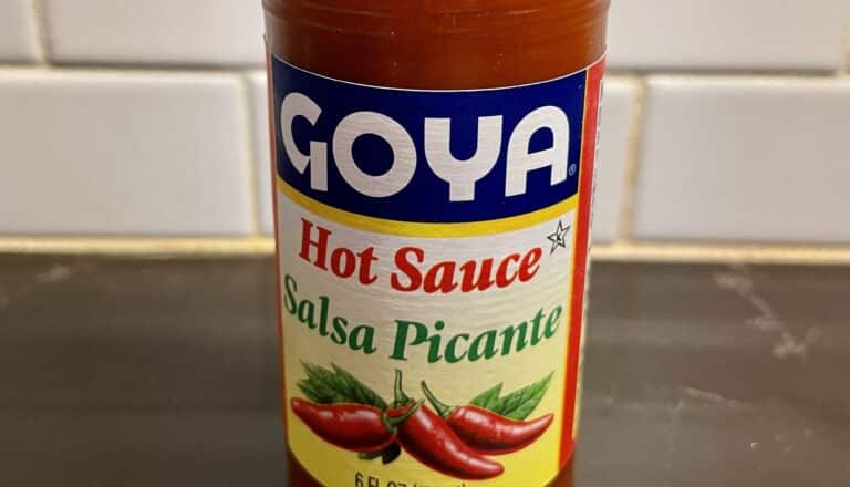 Goya Hot Sauce - Salsa Picante label