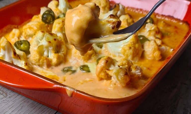 Jalapeno and Sriracha Cauliflower Cheese