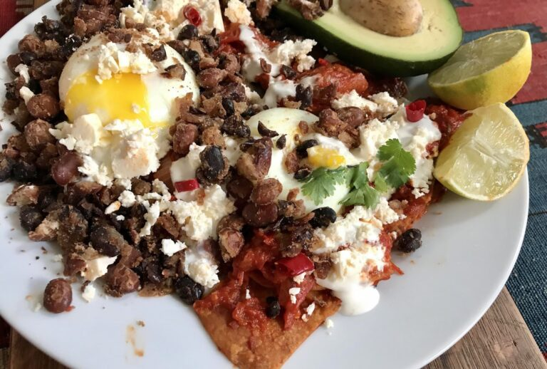 Chilaquiles close-up