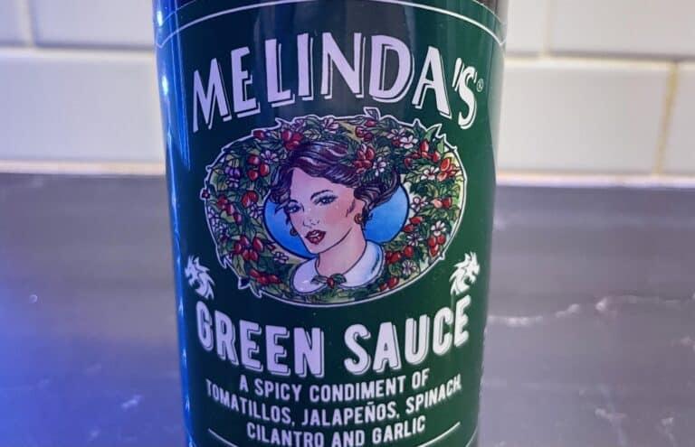 Melinda's Green Sauce label