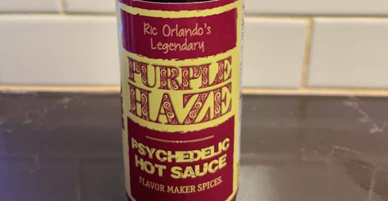 Purple Haze Hot Sauce Label