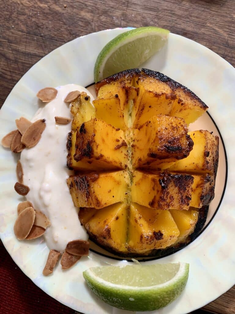 Seared spiced mangoes