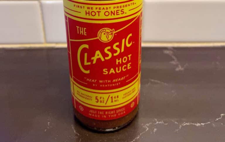 The Classic Hot Sauce — Hot Ones label