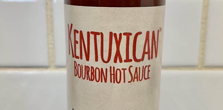Kentuxican Bourbon Hot Sauce label