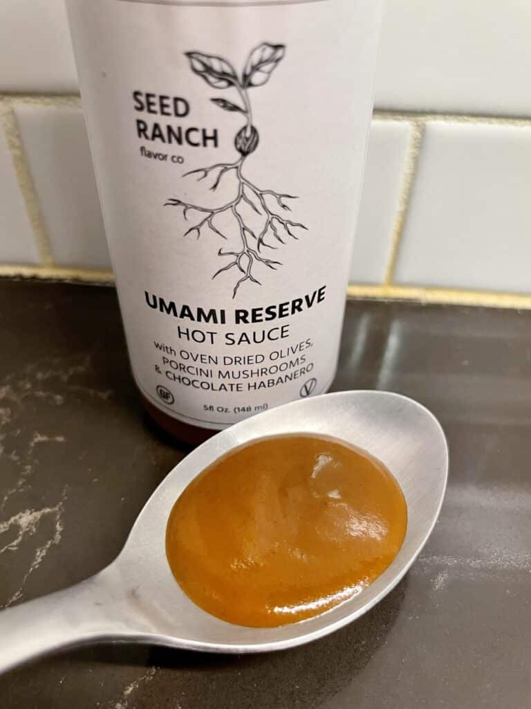 Seed Ranch Umami Reserve on a spoon